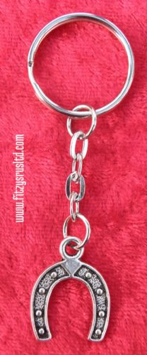 Lucky Horse shoe Keyring Horseshoe Key Ring Pony Farrier Wedding Charm Good Luck